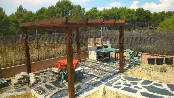 Caso de uso de pérgolas de madera
