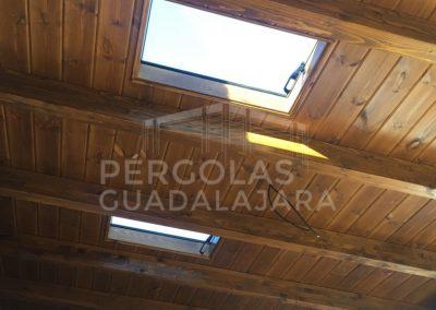 porche adosado luceras tejado